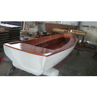 一头尖手划船价格 木质手划船制造厂家