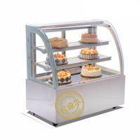 肯鼎尔 慕斯蛋糕冷藏柜展示柜 弧形直角前后开门玻璃台式冷柜 商用风冷保鲜冰柜 定制