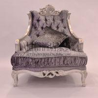 新古典家具 布艺沙发组合 1+2+3组合沙发 欧式三人沙发 单人沙发