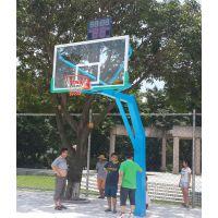 吉林白城优质钢管径220mm的户外成人移动篮球架