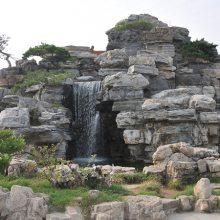 四川成都驰升塑石假山 塑石假山瀑布 仿铜浮雕壁画 雕塑人物