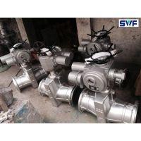 铝厂专用电动管夹阀,三维阀门,电动铝合金管夹阀