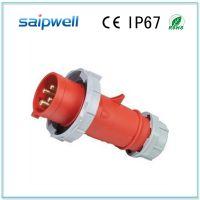供应SP-282 4芯工业防水插头 16A塑料外壳防水插头 防尘室外电缆插头