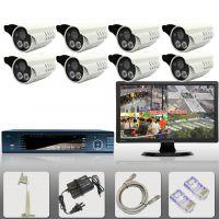 8路监控设备 八路高清监视器成套装 电视安防系统
