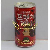 韩国进口饮料 富然池 卡布奇诺咖啡 罐装175mlX30瓶/箱 批发