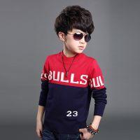 童装男童 2015春季新款韩版时尚字母毛衣 中大童数字打底衫外穿