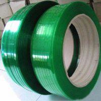 绿色平滑PET打包带 绿色压花塑钢打包带