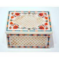 Marble Jewellery Box Inlay Art Stone Pietra dura Handicraft for Christmas gifts