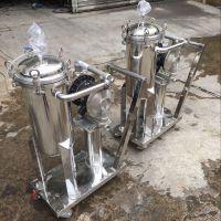 厂家供应不锈钢石油袋式过滤器 15-30T/H 口径2.5寸