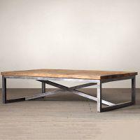 loft美式乡村复古时尚做旧实木家具铁艺休闲咖啡桌松木木茶几特价