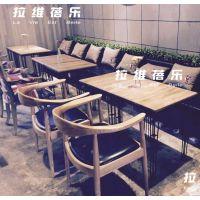 供应上海简约现代咖啡厅桌椅定做咖啡厅实木桌椅定制