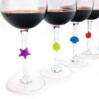 聚会party专用 硅胶酒杯识别器 红酒杯识别器 出口欧美