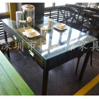 供应深圳直销铁艺餐桌 餐厅餐桌 铁艺桌子椅子