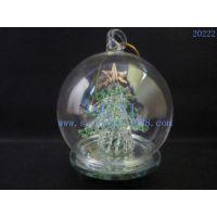 苏艺 玻璃LED灯圣诞树/LED拉丝件/玻璃圣诞球罩工艺家居摆饰