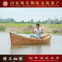景观木船 4M装饰木船cs-008欧式手划船 小木船 景点旅游道具船
