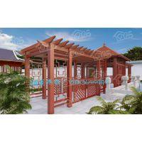 铝合金葡萄架、金属凉亭架、仿木纹铝艺凉亭、别墅庭院葡萄架定制、