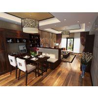 诗尼曼客餐厅定制家具摆放效果图-客厅装修设计-家居100网