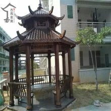 定制设计碳化木凉亭:园林景观/渡假村/温泉区/酒店