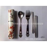 供应特色餐具/中国风餐具三件套/笑脸勺子/叉子/筷子