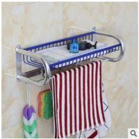 太空铝网篮浴巾架 置物架带钩 浴室五金挂件 超大容量收纳全实心