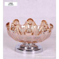 厂家批发高档水晶玻璃果盘 新古典摆饰 MS1804