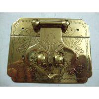 高档红木珠宝盒五金铜配件。高档箱扣门牌