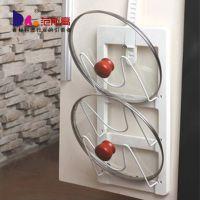 供应达盛锅盖架 带接水盘 菜板架 厨房用品挂件置物架 壁挂 多功能架子
