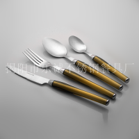 塑料柄餐具套装 揭阳市乐诚餐具24件套