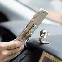 热销多功能指环扣车载支架 磁吸360度旋转手机支架铝合金手机支架