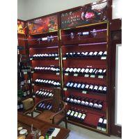 创先新款烟酒柜台红酒展示柜陈列柜便利店超市背柜红酒展柜定做