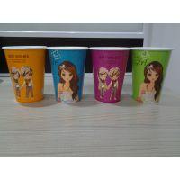 杭州12盎司情侣奶茶纸杯咖啡纸杯批发