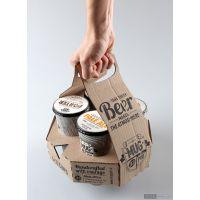 电商销售彩色包装定做饮料啤酒鸡尾酒易拉罐彩盒带提手包装纸箱