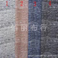 2014乱麻雪纺条纹布料 黑白蓝细条纹连衣裙面料 垂感好服装布料