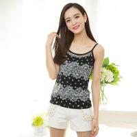 时尚夏季新款2015韩版性感吊带衫 女士修身大码蕾丝背心打底衫