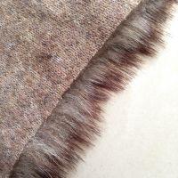 人造长毛绒布料 退色退染毛 三色毛 现货供应 雷锋帽面料厂家直销