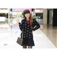 新款女装 条纹高领毛衣 宽松韩版冬装打底衫广州沙河服装批发市场