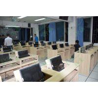 新型微机室电脑桌 翻转电脑桌 科桌双人多媒体教室桌