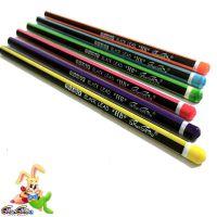 顺手 塑料仿木铅笔 HB环保抽条沾顶三角杆铅笔厂家批发 可定制LOGO