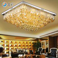 出彩方形圆形温馨led现代简约豪华水晶客厅卧室吸顶灯餐厅房间灯饰9921
