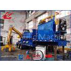 86kW Scrap Car Logger Baler , Mobile Baler Metal Baling Press With Tailer And Grab
