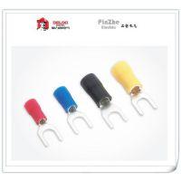 德力西电气 SV1.25-5 叉形预绝缘端头 U型接线端子 500只 红色