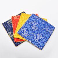 阿里创意云锦丝绸鼠标垫促销实用礼品 广告鼠标垫可做热转印logo