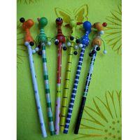 【厂家直销】新款立体卡通长颈鹿工艺铅笔木制广告笔活动笔