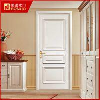 博诺白色烤漆房门 欧式防火实木复合门 家用实木门卧室门BN3009