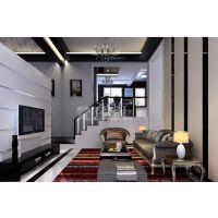 梵客家装 现代港式黑白装修效果图 三居室 境界梅江