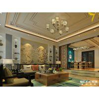 青岛装修万科青岛小镇中式五居270平元素巧妙兼容
