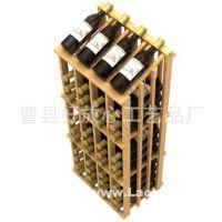 木制品厂家直供实木葡萄酒红酒置物架 定做厨房置物架 批发红酒架
