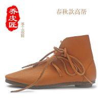 乔皮匠 手工制作疯马皮 复古个性粗狂 男女皮鞋 原创 批发