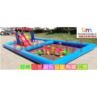 贵州室外经营新款儿童充气玩具,小孩玩乐新型充气沙滩二合一玩具