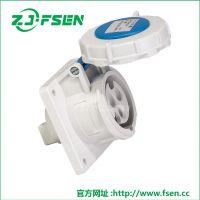 经济型工业连接器FS-1454 5芯125A 工业插座 三叉多功能插头